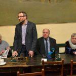 Prezentace Slovníku disidentů, zleva: Jan Urban, náměstek ředitele ÚSTR Ondřej Matějka, Petr Pospíchal a Petruška Šustrová