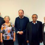 Laureáti Ceny ÚSTR se před slavnostním ceremoniálem setkali s ředitelem Zdeňkem Hazdrou