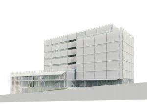 navrhovaný stav - západní fasáda; hlavní architekt RKAW