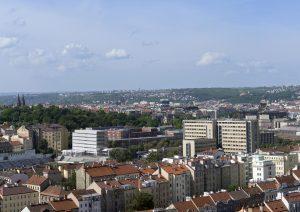 navrhovaný stav - pohled z Vítkova; hlavní architekt RKAW, zákresové foto Ester Havlová IPR