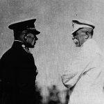 Sergej Vojcechovský s prezidentem Masarykem na vojenském cvičení