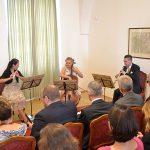 Představení knihy Jana Synka doprovodilo trio Prague Ensemble