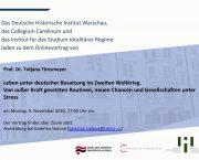 Zveme vás na online přednášku profesorky Tatjany Tönsmeyer