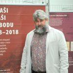 Místostarosta Prahy 4 pro kulturu a majetek Michal Hroza na zahájení expozice